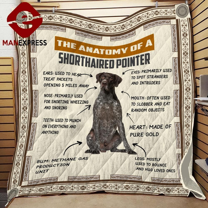 Anatomy Of Shorthaired Pointer 3D Customized Quilt