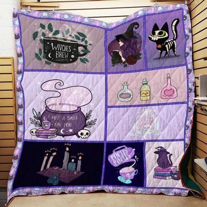Witch Purple 3D Customized Quilt
