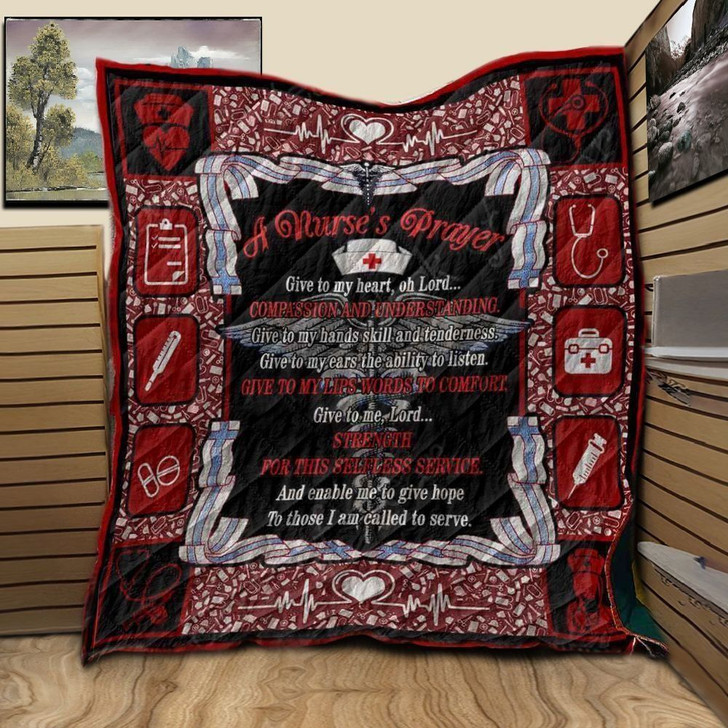 Nurse's Prayer NTA020398 3D Customized Quilt
