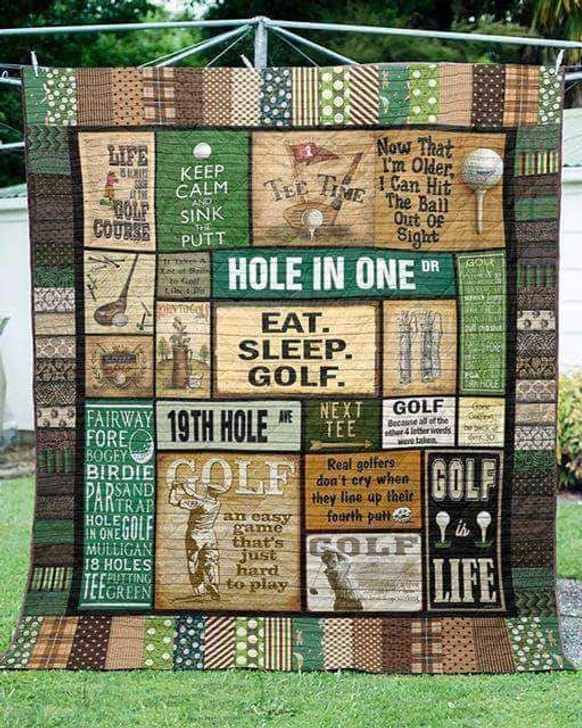 Golf Hole In One WBM129 Awesome 3D Customized Quilt