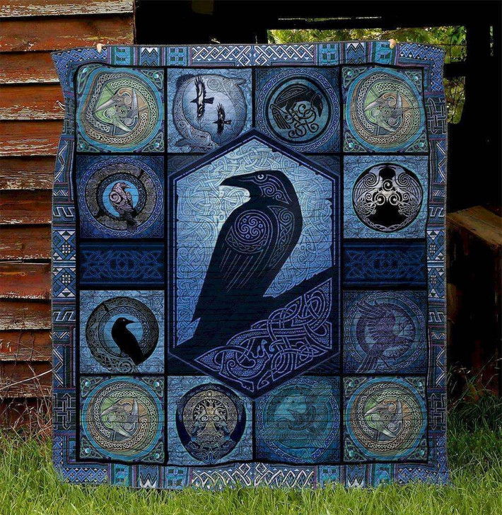 Norse Raven Raven WBM664 Awesome 3D Customized Quilt