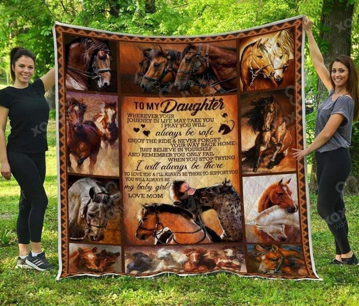 To My Daughter 3 Lover ODL32 3D Customized Quilt
