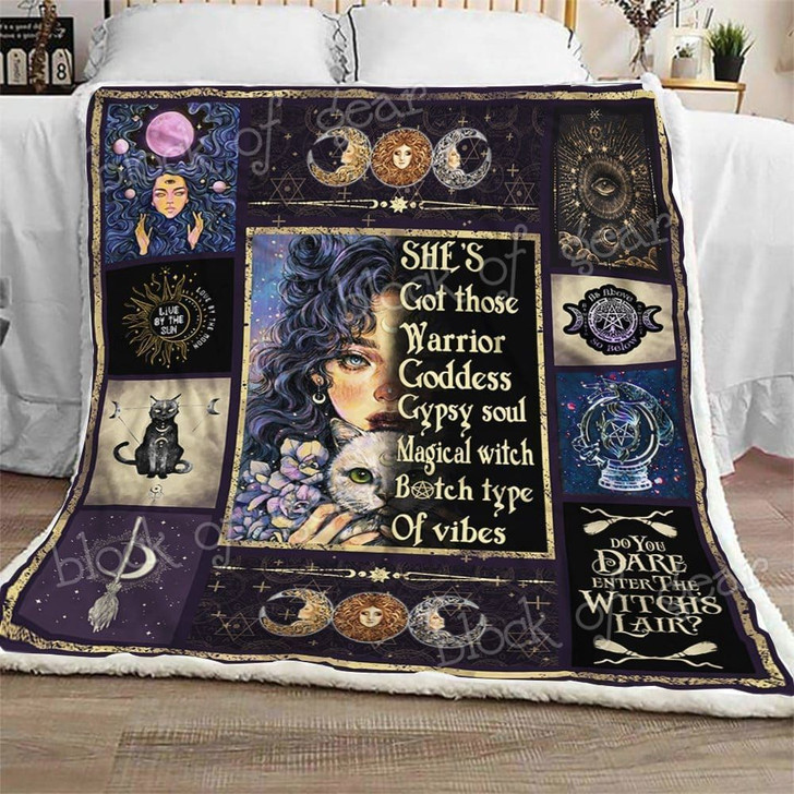 Wiccan Magic Witch Girl Aww BHJI265 3D Customized Quilt