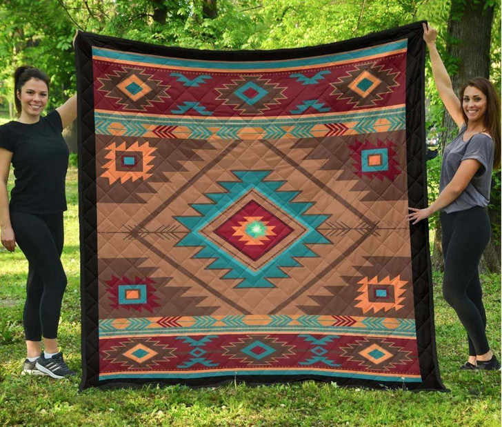 Southwest Brown Vintage Native American Mp553 Awesome LKI405 3D Customized Quilt