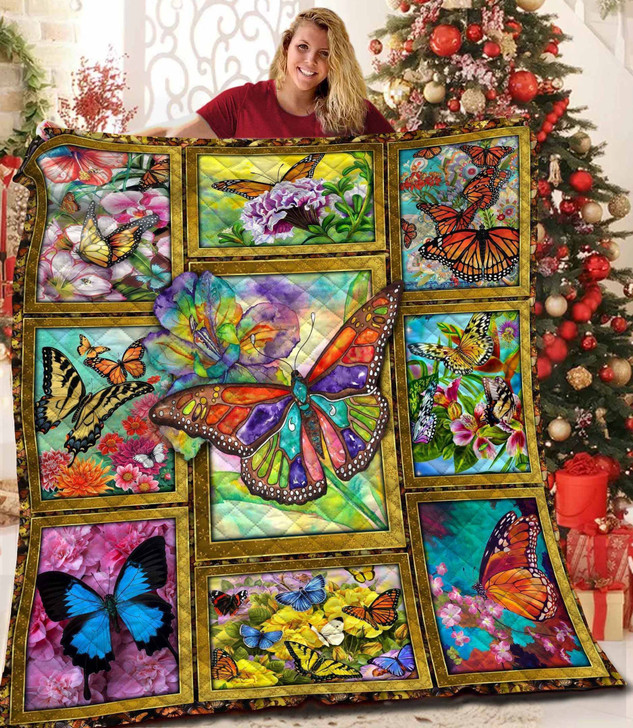 Butterfly C12007 3D Customized Quilt