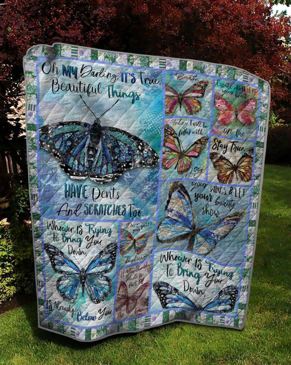 Butterfly Already Below You 3D Customized Quilt