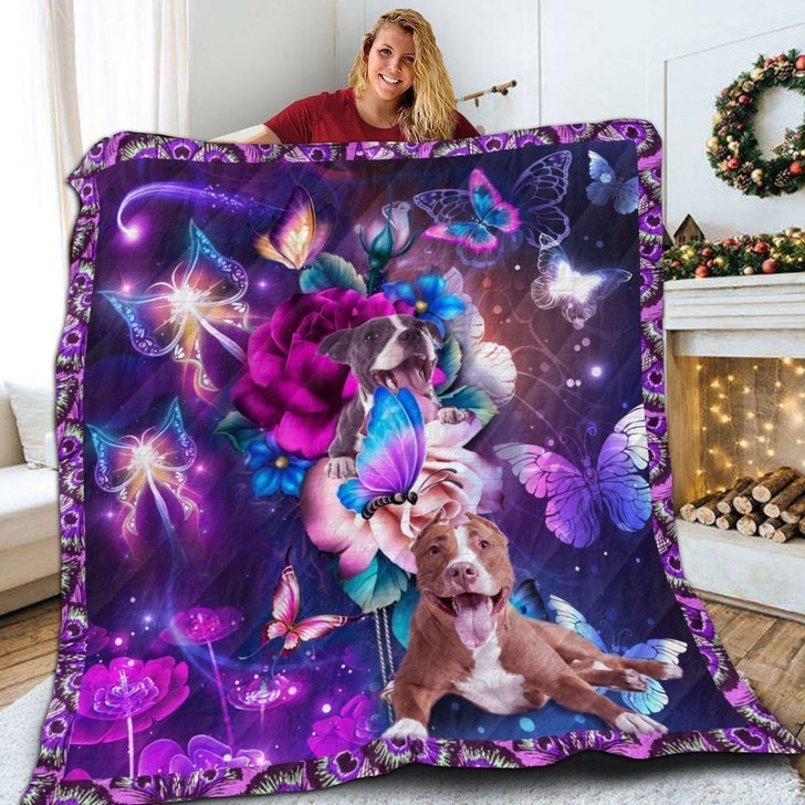 Pitbull Magical 3D Customized Quilt