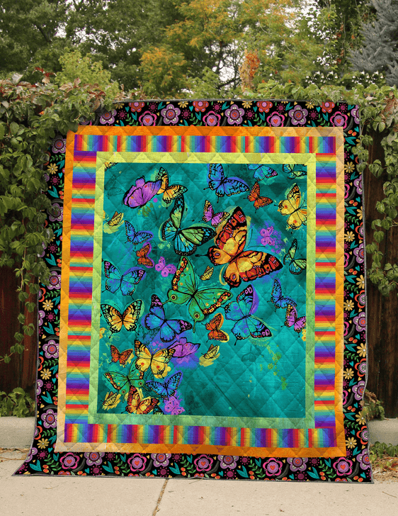 Butterfly Baby 3D Customized Quilt