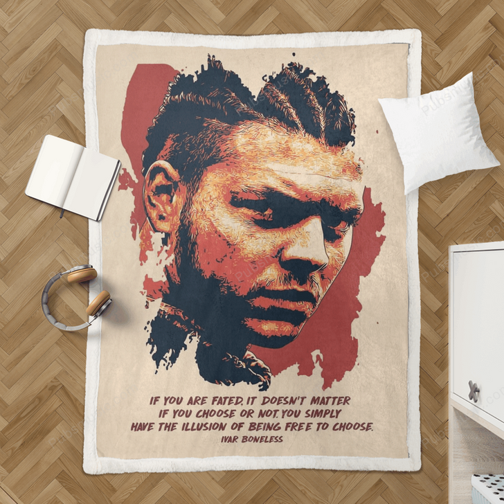 Ivar Boneless Quote Art - Tv Shows Quote Sherpa Fleece Blanket
