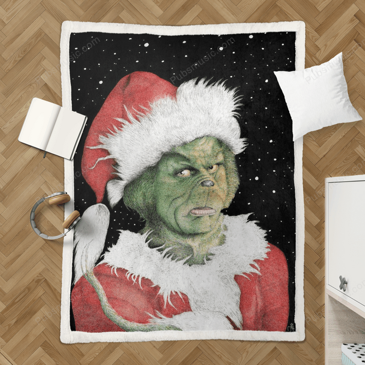 Green Christmas - The Movies Sherpa Fleece Blanket