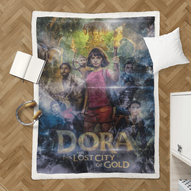 Dora The Explorer - Movies Sherpa Fleece Blanket