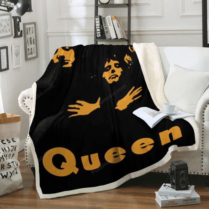 queen band - All About Music Art For Fans Sherpa Fleece Blanket