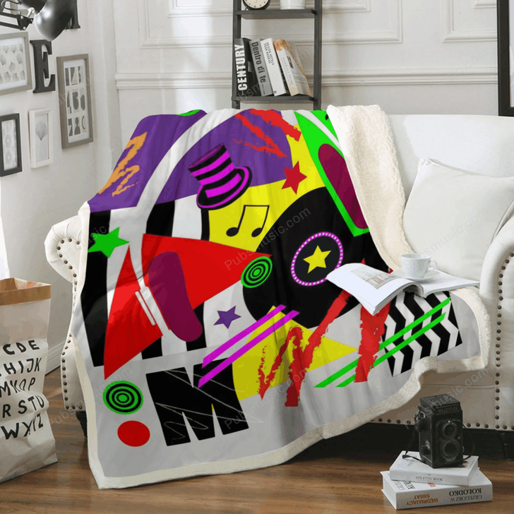 Music pop art background  - Pop Art Art For Fans Sherpa Fleece Blanket
