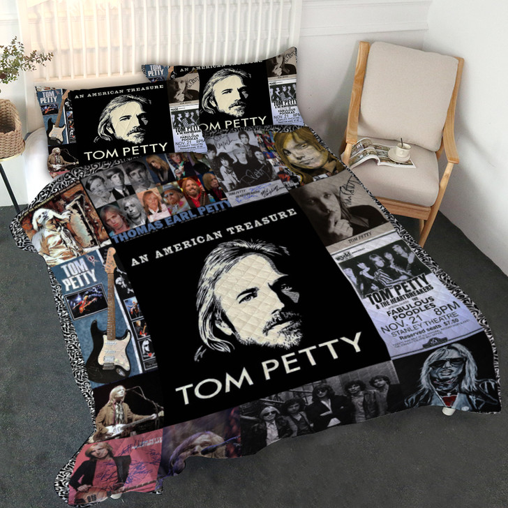 Tom Petty Customized Quilt Bedset