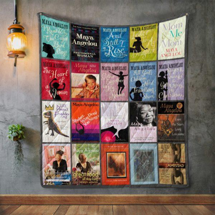 Maya Angelou Books 3D Personalized Customized Sherpa Fleece Blanket ESR30