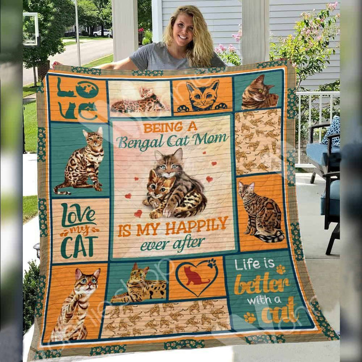 Bengal Cat Awesome 3D Customized Sherpa Fleece Blanket TUH43192 PLEN2407
