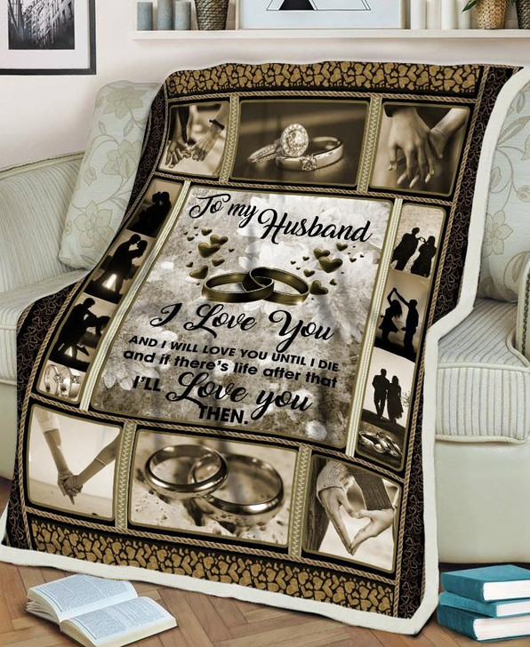 To My Husband From Wife Valentine Couple Gift Fleece Blanket