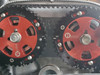 Martin Performance FSDE Timing Belt Tool Black installed, Hydra cam gears.