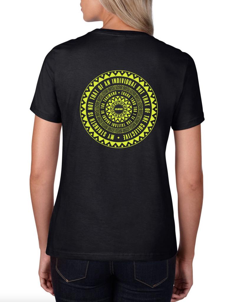 """Kaha Womens """"Black"""" T-Shirt"""