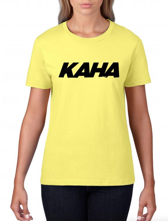 "Kaha Womens ""Yellow"" T-Shirt"