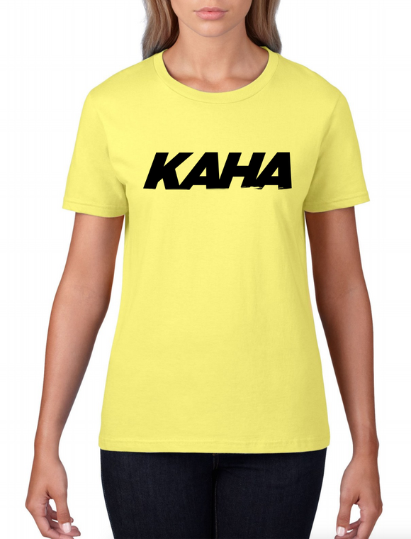 "Kaha Womens ""Yellow"" T-Shirt"