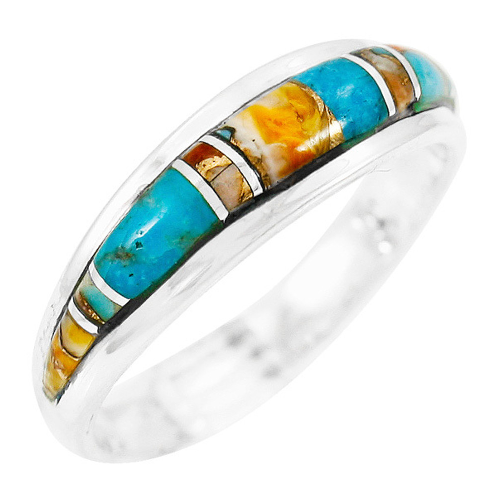 Spiny Turquoise Ring Sterling Silver R2264-C89