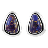 Sterling Silver Earrings Purple Turquoise E1213-C77