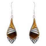 Sterling Silver Earrings Tiger Eye E1231-C32