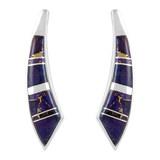 Sterling Silver Earrings Purple Turquoise E1223-C07