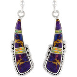 Sterling Silver Earrings Multi Gemstones E1232-C23