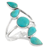 Turquoise Ring Sterling Silver R2406-C75