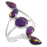 Purple Turquoise Ring Sterling Silver R2406-C77