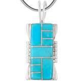 Sterling Silver Pendant Turquoise P3044-LG-C05