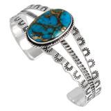 Matrix Turquoise Bracelet Sterling Silver B5554-C84