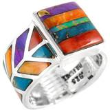 Multi Gemstone Ring Sterling Silver R2372-C00