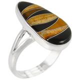 Multi Gemstone Ring Sterling Silver R2027-C33