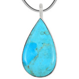 Sterling Silver Pendant Turquoise P3269-C75