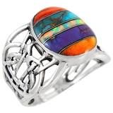 Multi Gemstone Ring Sterling Silver R2437-C00