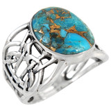 Matrix Turquoise Ring Sterling Silver R2437-C84