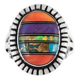 Multi Gemstone Ring Sterling Silver R2438-C00