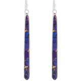 Sterling Silver Drop Earrings Purple Turquoise E1250W-C77