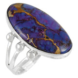 Purple Turquoise Ring Sterling Silver R2242-LG-C77