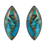 Sterling Silver Earrings Matrix Turquoise E1275-C84