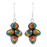 Sterling Silver Earrings Spiny Turquoise E1285-C89
