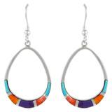 Sterling Silver Earrings Multi Gemstone E1291-C01