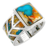 Spiny Turquoise Ring Sterling Silver R2372-C89