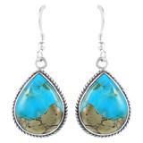 Sterling Silver Earrings Matrix Turquoise E1269-C94