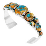 Spiny Turquoise Bracelet Sterling Silver B5491-C89