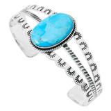 Turquoise Bracelet Sterling Silver B5554-C75