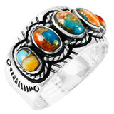Spiny Turquoise Ring Sterling Silver R2442-C89